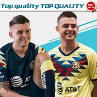 черный клуб америка джерси оптовых-Футбольный клуб 2019 Club de Futbol America home 19 20 Мужчин на выезде черные Третьи зеленые футболки Футболки на заказ в Мексике