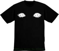 ingrosso bei vestiti neri-Maglietta da uomo Creepy Beautiful Black Eyes da uomo Brand Cotton Uomo Abbigliamento Uomo Slim Fit T Shirt