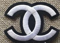 patchs repassés achat en gros de-10pcs Patchs brodés pour vêtements DIY Stripes Applique Vêtements Stickers Fer sur Creative Badges Numéro 5 patchs logo de luxe
