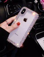 Wholesale iphone diamond pouch online – custom Girl Style Diamond Designer Phone Case For iPhone Case TPU Gel Soft Rhinestone Glitter Phone Pouch for iphone B
