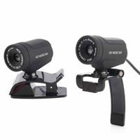 grabadora de videoclips al por mayor-USB Webcam 12MP cámara web giratoria Buit-in Mic Clip Video Recorder para PC