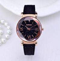 gogoey deri izle toptan satış-Yeni Moda Gogoey Marka Gül Altın Deri Saatler Kadınlar bayanlar casual elbise kuvars kol saati reloj mujer go4417