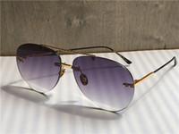 Wholesale women modeling sunglasses resale online - New fashion designer sunglasses frameless pilots frame weave modeling sunglasses top quality protection eyewear