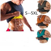 schlankes körperformhemd für männer großhandel-Natürliche Gewichtsverlust Neopren Workout Body Shaper Abnehmen T-Shirt Männer Ultra Schweiß Fatburner Taille Trainer Workout Shapewear S-5XL Beste