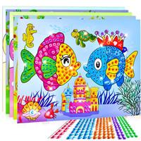 ingrosso manuale della farfalla-Libri da colorare Arcobaleno Farfalla pesce fiore Adesivi giocattoli manuale Crea incolla di cristallo Cartone originale giocattolo bambini Bardian 0 56mt N1