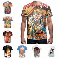 ingrosso cime superiori-Donald Trump T Shirt Uomo Wome Unisex 3D Print Homme O-Neck Maglie maniche corte Pro USA President T-Shirt Trump Tops AAA2232