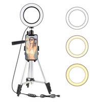 Wholesale led flash for cameras for sale - Group buy 7 inch LED Ring Light Photo Studio Camera Light Photography Dimmable Video light for Youtube Makeup Selfie with Tripod Phone Holder