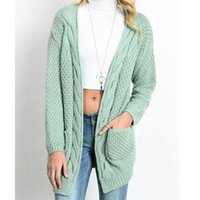 ingrosso indumenti da cardigan in maglia-Womens Knit Cardigan 19 Spring Autumn Twisted a maniche lunghe Slim Fit Knitwear 11 Colori Femme Knitted Outfit S-3XL