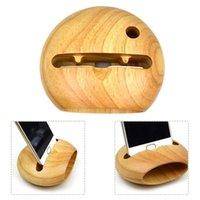 усилители оптовых-Мобильный деревянный сотовый стенд с усилителем звука Поддержка телефона держатель стола J190507