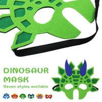 красивые маски оптовых-Динозавр Photo Booth Реквизит Красивые Косплей Маски Прекрасный Фотография Prop Фестиваль Dorpshipping