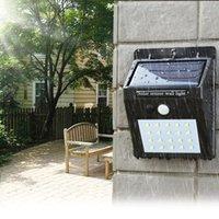 güneş enerjisi ile çalışan yol ışıkları toptan satış-Güneş Enerjisi Ile LED Güneş işık Dış Duvar LED Güneş lambası PIR Hareket Sensörü Gece Güvenlik Ampul Sokak Yard Yolu Bahçe lambası ZZA265