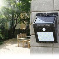 lampe murale à capteur de mouvement solaire achat en gros de-Lampe solaire solaire de mur extérieur de la lumière solaire de l'énergie solaire LED avec la lampe de jardin de chemin de jardin de voie de cour de voie de voie de capteur de mouvement de nuit de PIR