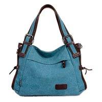 trendy tuval toptan çantalar toptan satış-Tuval Omuz Çantaları kadın kız kadın tasarımcı çanta yüksek kalite için büyük Vintage Tote Moda Omuz Çantası handbags