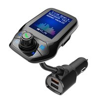 Wholesale usb mp3 player aux output resale online - Color Screen Car Mp3 Music Player Bluetooth Receiver FM Transmitter Aux Audio Output Car Double USB Charger