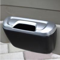 lixo automático venda por atacado-1pc Auto Car Trash lata de lixo Titular Aarbage Bin Péssima caixa de armazenamento recipiente com tampa Fontes de limpeza