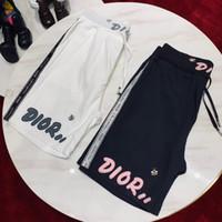 erkekler spor kısa ceketler toptan satış-19ss lüks marka tasarım D mektupları sideline balarısı baskı parça pantolon Pantolon Erkek Kadın moda spor Jogger Sweatpants Açık şort