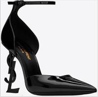 seksi bayan elbise ayakkabıları toptan satış-2019 Tasarımcı Yüksek Topuklu Güz Kadın Ayakkabı Sivri Burun Düğün Akşam Balo Parti Elbiseler Ayakkabı Kadınlar Seksi Bayanlar Modası Siyah Ayakkabı Pompaları
