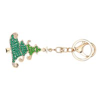 Wholesale diy keyrings resale online - Diy Handmade Diamond Keychain Rhinestone Bag Pendant Keyrings Christmas Tree Chain Crystal Key Chains