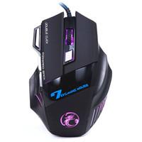 levou jogo óptico jogo mouse venda por atacado-3200 DPI LED 7D Botões Optical Ergonomic Mice USB Com Fio Gaming Game Mouse Para PC Laptop Jogo # T3