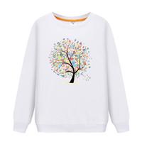 chemise de famille achat en gros de-2019 Tenues assortis Famille manches longues Motif de caractère T-shirt Père Mère Fils Fille Sweat-shirts Papa Maman Sweat