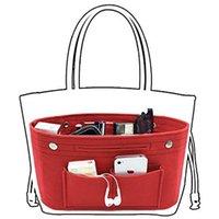 filzkupplung großhandel-Frauen Filz Obag Tuch Innentaschen Clutch Handtasche Daily Supplies Makeup Organizer Multi Taschenformer Gepäcktasche Zubehör