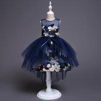 çocuklar için nedime elbiseleri toptan satış-Çocuklar için Doğum Günü Prenses Parti Elbise Kız Bebek Çiçek Çocuk Nedime Kız Bebek Kız için Zarif Elbise Giysileri