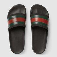 herren slipper designs großhandel-[mit box] mode desingers herren sandalen 2019 sommer lässig gummi design hausschuhe müßiggänger luxuriös g männer leder design sandalen 39-46