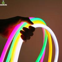 12v led de iluminación comercial al por mayor-Tira de luz de neón LED flexible 110V 220V 2835 5050 Letrero de neón LED 120led Luz de cuerda flexible impermeable Iluminación exterior