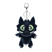 Wholesale stuffed animal toy chain for sale - Group buy 17cm inch How to Train Your Dragon Plush pendant Toy New movie Toothless Stuffed Doll Key chain MMA1508