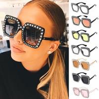 kadın için plastik güneş gözlüğü toptan satış-Moda Kadınlar Vintage Stil Kare Ayna Güneş Gözlüğü Plastik Çerçeve Güneş Gözlüğü Yeni Kare Ayna Güneş Gözlüğü