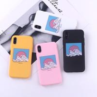celulares japão venda por atacado-Para Iphone 11 Pro Xs Max Xr Aceno Sun Japão Capa Telefone 6 7 8 x mais All-Inclusive TPU Soft Cell Phone Cases