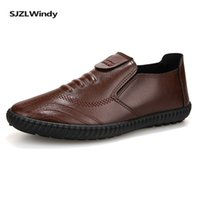 Wholesale dress shoes soft soles resale online - Spring and Autumn Men s Shoes Soft PU Rubber Material Leather Shoes Leisure Dress Fashion Flat soled Sneakers zapatos de hombre
