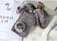 ingrosso cassa sveglia 5s dei telefoni-YunRT Rabbit Ears Furry Phone Case per iPhone X XS Max Xr Christmas Cute Diamond Case per iPhone 6 6s 7 8 Plus 5 5s SE Inverno