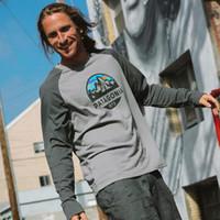 camisas casuais microfibra venda por atacado-Autumn homens Patagonia T-shirts Montanha Cores retalhos uomini di patagonia Hombres Tops