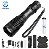 Wholesale used dive torch for sale - Group buy Glare LED Flashlight Bicycle Light Lighting modes Zoomable Torch Use battery Used for hunting camping night rides etc