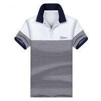 nuevo tipo de color de la camisa al por mayor-Camisa polo Homme Stripe Joint Round Collar Multi-colores Verano Nuevo estilo Venta caliente Simple Tipo casual Cómodo para usar Camisa Polo