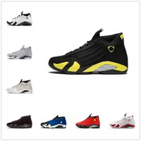 9a2d0732239 TOP Quality 14 14s Black Toe Fusion Varsity Red Suede Thunder retro Men  Basketball Shoes Cool Grey DMP Candy Cane Sneakers With Shoes Box