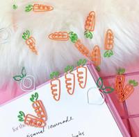rabanete branco venda por atacado-Bonito dos desenhos animados fruta clipe de papel de cenoura rabanete branco nota clip simulação rabanete branco clipe de papel escritório papelaria