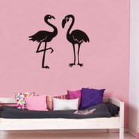 Wholesale large birds for sale - Group buy 2 Flamingo Wall Stickers Home Decor living Room Large Birds Wall Stickers For Kids Room Baby Nursery Wall Decals Muraux