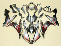 yamaha rojo al por mayor-Calidad OEM Nuevos kits de carenado ABS completos aptos para YAMAHA YZF R1 04 05 06 YZF1000 2004 2005 2006 R1 Juego de carrocería Custom Red Flame
