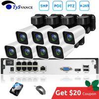 cctv 2tb hdd venda por atacado-8ch 5MP POE PTZ Kit H.265 Sistema 4X Zoom Óptico CCTV Segurança Outdoor IP Waterproof Camera 16CH NVR 2TB HDD Video Surveillance