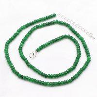 piedras de torsión al por mayor-2x4mm Verde Natural Malasia Piedra Gargantilla Cadena para Mujer Jades Collar Collares Collares Abacus Torque Joyería 18