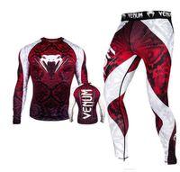 combinaison de sport en lycra achat en gros de-Venom imprimés Hommes Survêtements Designer longues Manches longues Pantalons Costume Skinny Homme Courir Costumes de sport