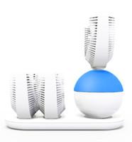 dentes ultra-sônicos venda por atacado-U-Forma Automática Sônica Escova De Dentes Elétrica de 360 Graus Ultrasonic Teeth Cleaner Para Pessoas Preguiçosas Nova Escova De Dentes Elétrica