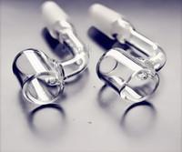 18.8mm çanak çivi toptan satış-QBsomk Kavisli Cam Bongs Kuvars Banger Kavisli Tırnak için Çanaklar Tırnak 18.8mm veya 14.4mm Kadın Erkek Kase Cam Kova Yağ Burner Cam Kase Su