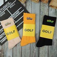 vendiendo medias de mujer al por mayor-Golf Wang bordado calcetines hombres mujeres vendieron algodón medias de skate Unisex calcetines deportivos negro naranja rosa MTI0413