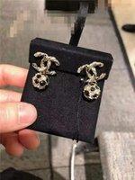 ouro branco coreano venda por atacado-Coreano Crown Brincos real Ouro Branco Brincos Mulheres Crystal Fashion Stud snap Jóias