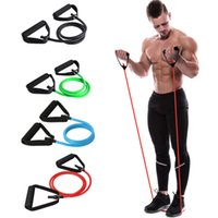 Wholesale yoga stretching rope resale online - New style gum for fitness rubber Elastic Pull Rope Yoga Resistance Bands muscle bodybuilding Stretch Exercise Tubes fitness gum