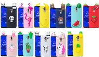 Wholesale watermelon iphone case online – custom 3D Soft TPU Case For Iphone XR XS MAX X Samsung Note Pro S10 S9 Flamingo Panda Unicorn Watermelon Banana Cover