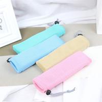 ingrosso disegni per piccole cucine-Mesh Bundle Pocket Bacchette Spoon Small Bag Kitchen Storage Handbag Pull Rope Design Rosso Blu The New 1 5xy C1